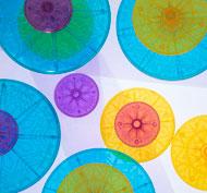 Piedras transparentes multicolor lote de 15 piedras