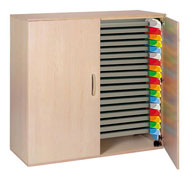 Cupboard for stackable beds