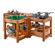 Cocina modular de exterios 4 piezas set de 4