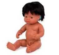 Muñeco bebé latinoamericano con implante coclear 38cm