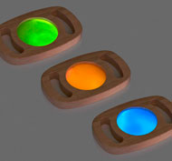 Lentes descubrimientos los colores luminiscentes set de 3