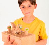Construcción de madera Fab Brix en caja 70 piezas set de 70 piezas
