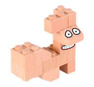 Construcción de madera Fab Brix en caja 150 piezas set de 150 piezas