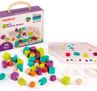 Formas y colores para ensartar ECO set de 36