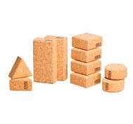 Construcción de corcho natural bloques set de 15 bloques