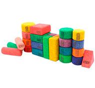 Construcción de corcho colores bloques formas Conjunto 28 bloques