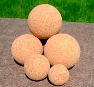 Pelotas tamaños de corcho natural set de 5