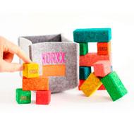 Construcción de corcho colores pequeños bloques Conjunto 17 bloque