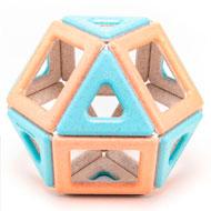Construcción magnética Eco magnético de polydron set de 24 piezas