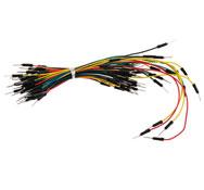 Cables para placas de pruebas, 65 ud.