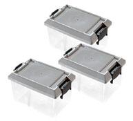Cajas almacenamiento con tapa (c) 0,4 l. lote lote de 3