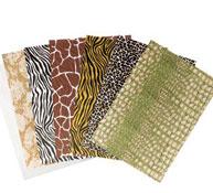 Hojas de papel de seda  safari los 7