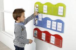Porta-tarjetas mural pequeñas olas long. 60 cm la unidad