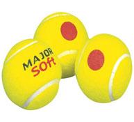 Bolas de tenis intermedias soft lote los 12