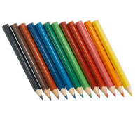 Lapices de color ergonómicos cortos lote de 12