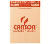 Estuche de hojas de papel de dibujo canson papel 160 gr la unidad