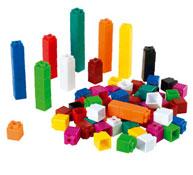 Cubos de colores encajables los 100