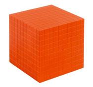 Cubo base 10 multicolor cubo millar la unidad