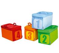 Cubetas grandes de tejido cifras lote de 4