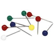 Alfileres con cabeza de plástico de color, 200 ud.