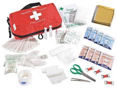 Botiquín de primeros auxilios equipado el conjunto
