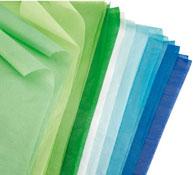 Hojas de papel de seda colores fríos los 20