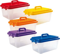 Maxi lote maletin de color para almacenar los 5