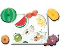 Encaje de las frutas y las legumbres las frutas nº1 la unidad