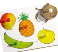 Encaje de las frutas y las legumbres las frutas nº2 la unidad