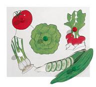 Encaje de las frutas y las legumbres las verduras nº1 la unidad
