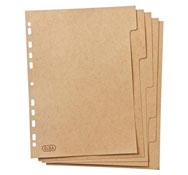 Hojas separación de carton para el archivador a4 el conjunto
