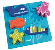 Encaje maxi animales como pez en el agua la unidad