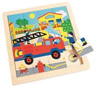 Puzzle indicios - los bomberos la unidad