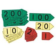 Flechas base 10 magnéticas gran modelo unidades, decenas y centenas los 27