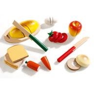 Alimentos para cortar conjunto bocadillo el conjunto