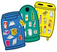 Kit de material de reciclaje de deshechos el juego