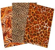 Hojas de papel decopatch piel de animal lote de 30