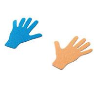 Huellas manos marcaje de suelo en fieltro manos lote de 12