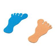 Huellas pies marcaje de suelo en fieltro pies lote de 12