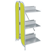Estantería next altura 97 cm, 2 estantes el conjunto