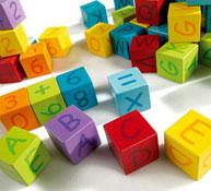 Cubos alfabeto y números los 40