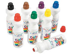 Aplicadores de gouache chunkie frascos vitrocolor los 8