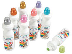 Aplicadores de gouache chunkie colores metálicos los 8