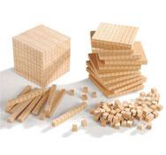 Cubo base 10 de madera el conjunto