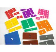 Set de fracciones transparentes escritura de fracciones cuadrados de fracciones los 9
