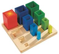 Encaje formas los cubos la unidad