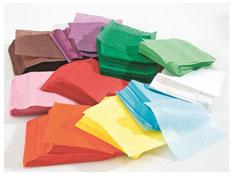 Hojas recortadas de papel de seda  cuadrado 10 cm unos 4600