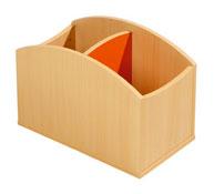 Cubeta pequeña para libros simple la unidad