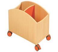 Cubeta pequeña para libros con ruedas la unidad