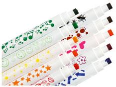 Rotuladores con tampones dibujos variados lote de 10